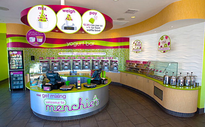 Menchies Frozen Yogurt Geen Quartz in Bloomingdale, IL - StoneTek Design